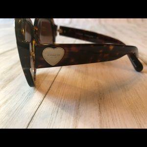 Coach Tortoise Sunglasses with Gold Heart Logo